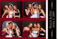 Photo Booth Wedding Post Card Layout